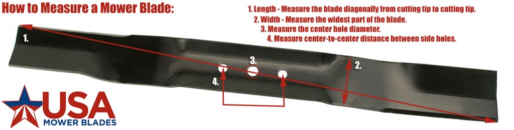How to Measure a Lawn Mower Blade - USA Mower Blades